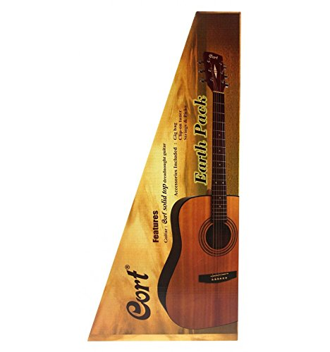 Cort earth60 Natural poros abiertos – Pack guitarra electroacústica