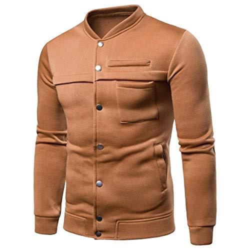 Preisvergleich Produktbild Sannysis Herren Reine Farbe Pullover Langarm-Kapuzen-Sweatshirt Tops Bluse
