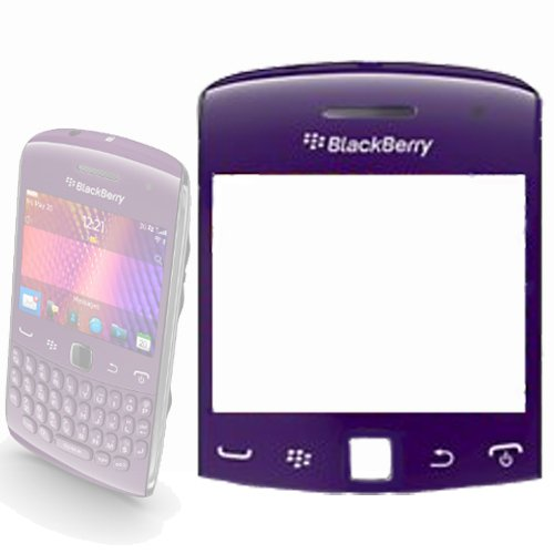Blackberry 9360Curve Ersatz Bildschirm verkratzt Objektiv in lila/flieder-ersetzen Beschädigte/, Top Blackberry Curve Fall