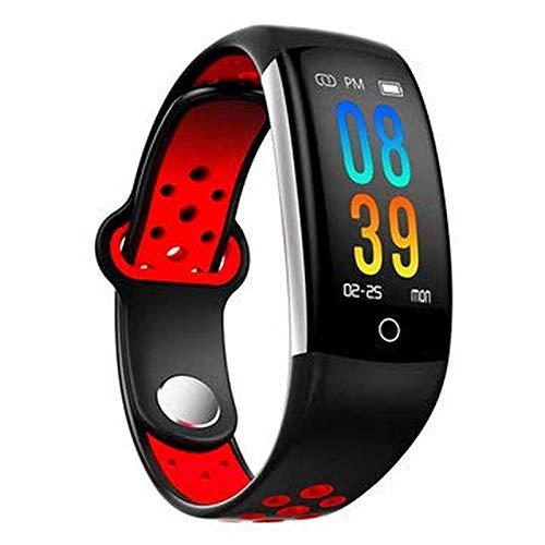 Blutdruck Pulsmesser Fitness Tracker Bluetooth Smart Armband - Smart Watch & Band Smart Armband - (Rot) ()
