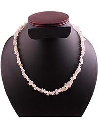 06bc5696c972 Neerupam colección Naturales Arco Iris Blanco sin Cortar Cuentas Piedras  Preciosas Collar