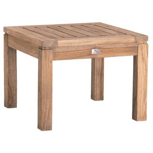 BEST 52314067 Teak-Hocker Moretti 50 x 50 cm, grau wash