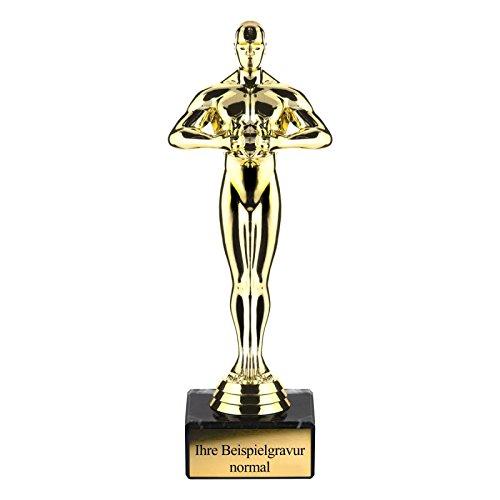 Geschenke 24: Sieger Statue mit Gravur - 21 cm hoch - gravierter Pokal - personalisierte Trophäe für Familie und Freunde - Auszeichnung für besondere Menschen