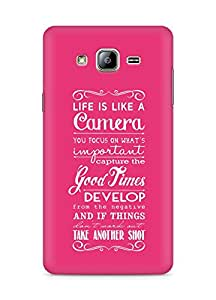 AMEZ life is like a camera Back Cover For Samsung Galaxy ON5