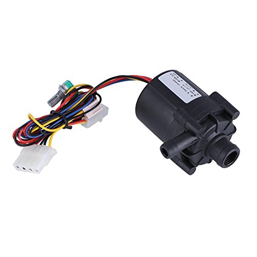 Price comparison product image prettygood7 Adjustable Water Flow Pump DC 12V 10W for PC Water Cooling System Submersible Water Pump