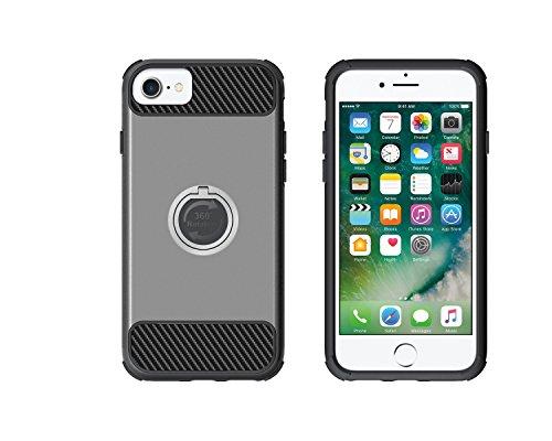 Silikon Hülle für iPhone 7,iPhone 7 Handyhülle Silikon,iPhone 7 Hülle Rosa,Felfy Ultra Dünn TPU Silikon Tasche Schutzhülle Luxus Glänzend Glitzer Schutz Anti Kratzen Shell Hülle Tasche Etui Bumper Sto TPU+PC Grau