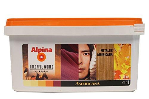 Alpina COLORFUL WORLD Metall Accent Gold glänzend 1L (Gold-metall-farbe)