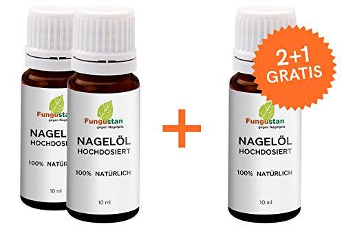 Fungustan Nagelöl | Hochdosiert | Teebaumöl | Stärkt Nägel, 10 ml | 2+1 gratis