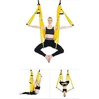 Aerial yoga swing, Flying Juego de hamaca para Yoga Sling para Antigravity yoga ejercicios de inversion, amarillo - Cosmética y perfumes - Comparador de precios