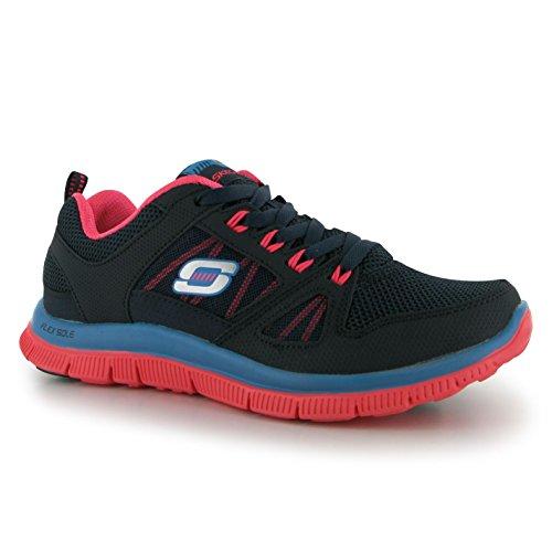 Skechers Flex Appeal Spring Fever Damen Turnschuhe Training Sport Schuhe Sneaker Blau1