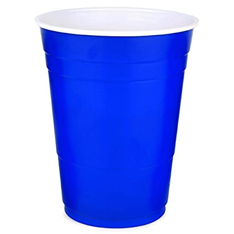 Solo American Party Cups, Glass, Blue, 16 oz/455 ml, Pack