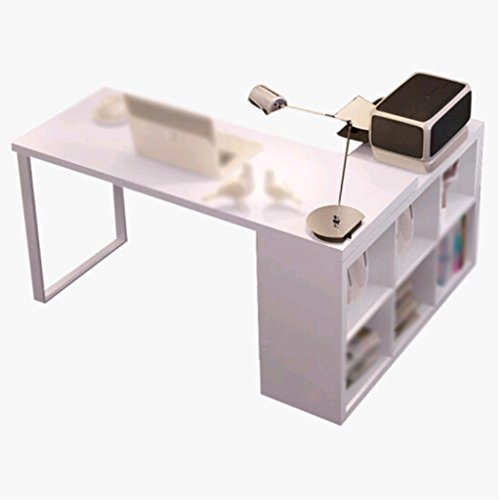DFHHG® Estantería, Librería Combinada Paneles a base de madera Escritorio de Ordenador Blanco durable