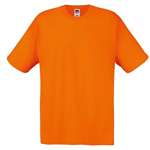 Pacco 10 Magliette da Lavoro Stock T-Shirt Cotone Fruit of The Loom Original T, Colore: 10x Arancione, Taglia: L