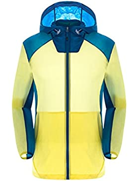 Zhhlinyuan ropa de deporte Mens Thin Lightweight Waterproof Dry Quickly Sports Skin Jacket Hooded