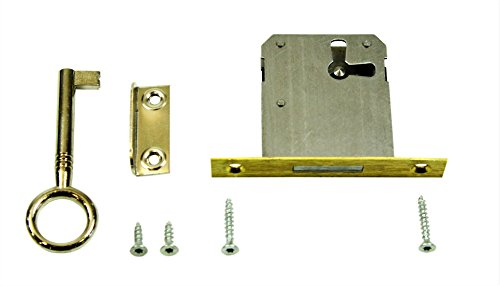 SN-TEC Einsteckschloss / Möbelschloss / Schrankschloss 35mm Dornmaß rechts/links/oben verwendbar incl. Zubehör