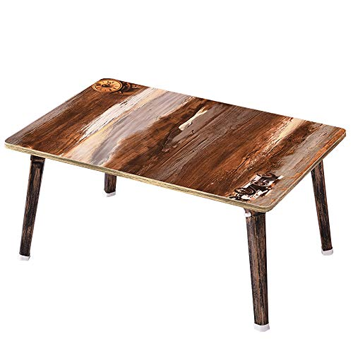 MEI XU Tabellen Klapptisch - Laptop Tisch Faltbare Frühstück Service Tablett MDF Top Board (60x40x30cm) @ (Farbe : 1) -