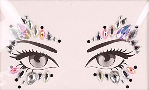 shoperama Glitzer Schmucksteine fürs Gesicht Strass Juwelen Glitzersteine Glitter Edelsteine für Festival Party Shows Karneval, Variante:Augen Pink