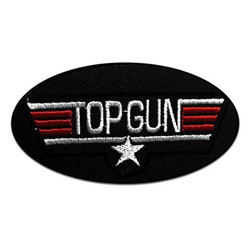 Aufnäher/Bügelbild - Top Gun Movie - schwarz - 10 x 5,3 cm - Patch Aufbügler Applikationen zum aufbügeln Applikation Patches Flicken