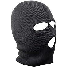 TRIXES pasamontañas negro SAS estilo 3 agujero máscara cuello calentador Paintball pesca