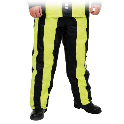 Oxford Bone Dry - Motorrad-Regenhose - Überhose Warnfarbe - Schwarz/Gelb - S