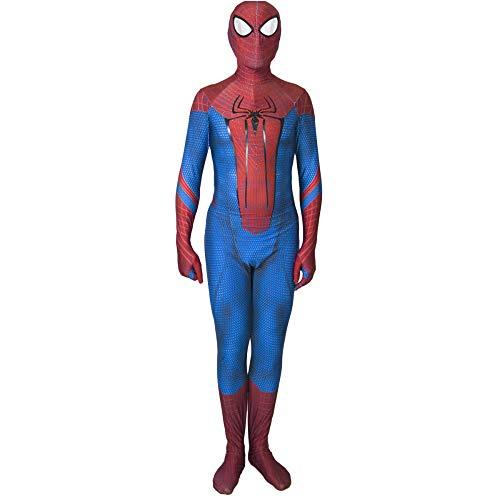 QQWE The Amazing Spider-Man Cosplay Bodysuit Spandex Jumpsuits Kostüm Kinder Erwachsene Rollenspiele Kleidung,Children-M