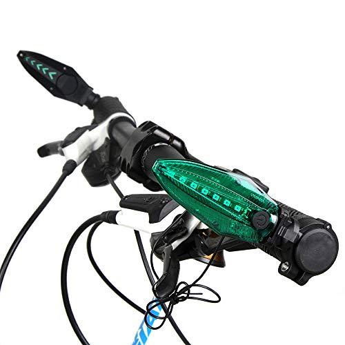 Explopur Fahrradklingel - 130 dB USB-aufgeladener wasserdichter Fahrrad-Lenkeralarm mit elektrischer Hupe - Blau, Grün, Rot Optional