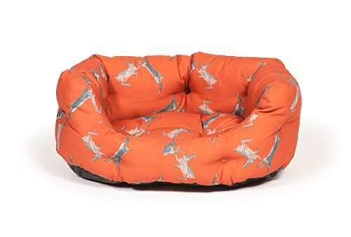 woodland-hare-deluxe-slumber-pet-bed-in-russet-size-26-cm-h-x-64-cm-w-x-53-cm-d