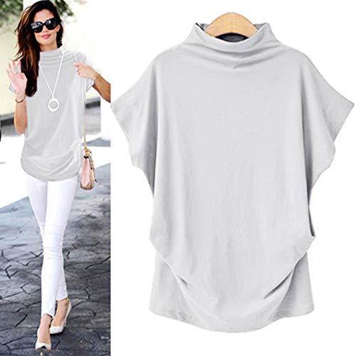 (Mutter beste Geschenke für Frauen !!! Beisoug Plus Size Rollkragenpullover Sommer Solide Lässige Lose Bluse Top T-Shirt)