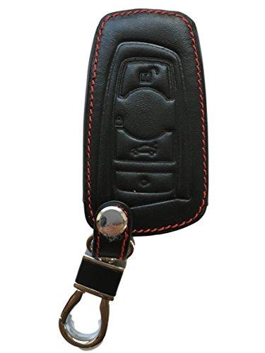 Schlüsseltasche Hülle Etui LEDER – Schutz & Schlüsselanhänger Ersatz - Schlüssel Cover - für 1er F20 2er F22 3er F30 Limousine Touring Coupe Cabrio 4er 5er F10 6er F12 7er F01 X3 F25 X4 F26