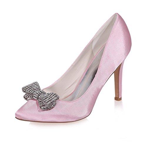 L @ yc Chaussures De Mariage En Soie Femmes 0608-26 / Nuit Party Toe Talons Et Plus De Couleurs Disponibles Rose