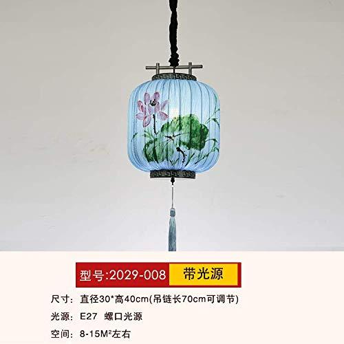 Chinesische Wind Laterne Kleine Kronleuchter Restaurant Restaurant Teehaus Hochzeit Tuch Dekoration Hot Pot Lampen Handbemaltes Blau - Handbemalte Mini-lampe