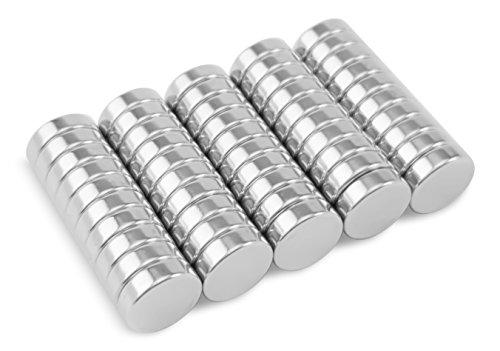 Naths Magnets®   Magnete für Magnettafel 50 Stück   10x3mm Magneten extra stark   Mini Magnete Magnettafel   Kühlschrankmagnete klein   Neodym Magnet für Whiteboard -