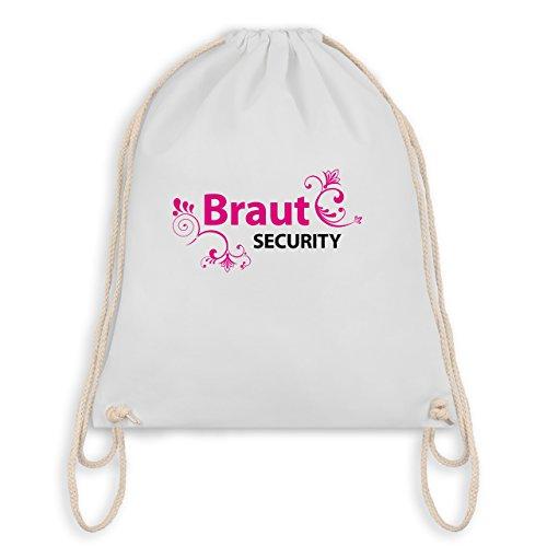 JGA Junggesellinnenabschied - Braut Security - Turnbeutel I Gym Bag Weiß