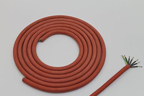 5m Silikonkabel SIHF-J 7 x 1,5 mm² für Elektrosaunaöfen Sauna Saunakabel