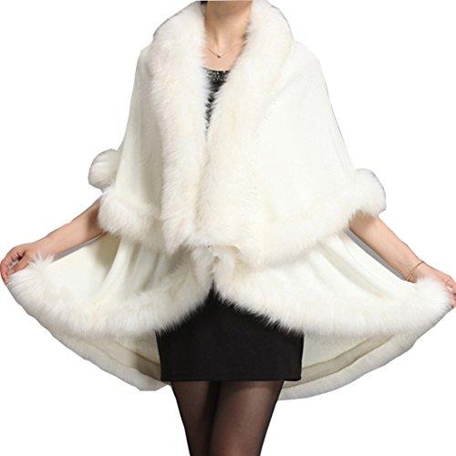 Damen Süße Kaninchen Die Ohren Poncho Cape mit Kapuze Mantel