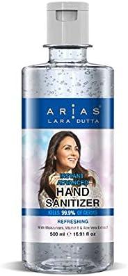 Arias By Lara Dutta Sanitizer, Refreshing - 500 ml