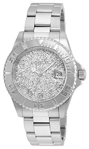 Invicta 22706 - Montres Bracelet Femme - Affichage Analogique - Bracelet Acier inoxydable - Cadran à la texture métal argenté - Agent