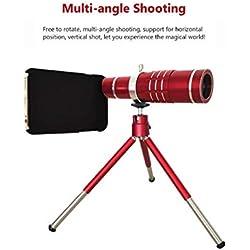 vdh 18X télescope monoculaire téléobjectif hd monoculaire télescope avec support adaptateur de téléphone et trépied pour le camping observation des oiseaux voyage en plein air escalade de chasse