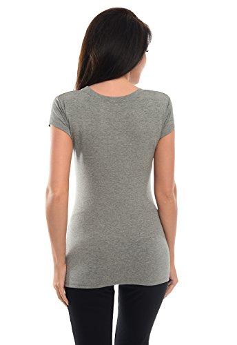 Purpless Maternity Top T-shirt Gravidanza 5010 Dark Gray Melange