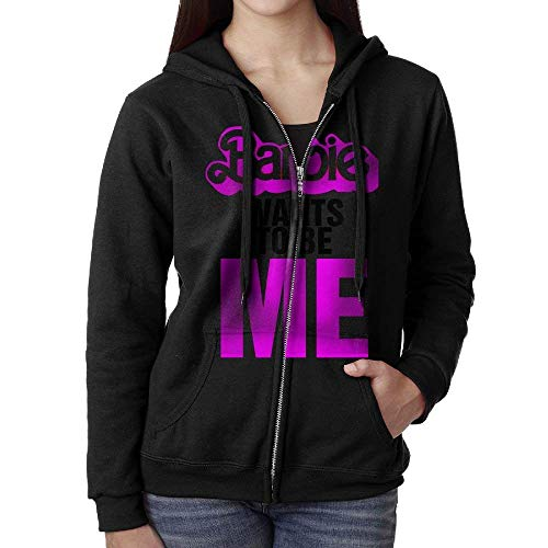 c4e48e3ee31 Barbie Wants To Be Me Sweater Shirt Zipper Jacket Sports hooded  Kapuzenpullover Sweatshirt For Woman Fit