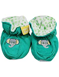 Honey Bunny Corduroy Booties With Anti Skid Back- Green (18-24 Months)