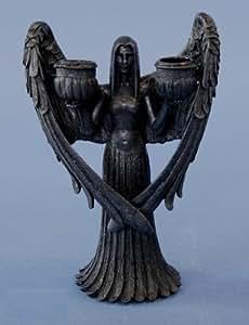 dunkler engel kerzenhalter gothic figur angel k che haushalt. Black Bedroom Furniture Sets. Home Design Ideas