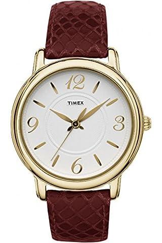 Timex Uptown für Frauen-Armbanduhr Analog Quartz T2N619