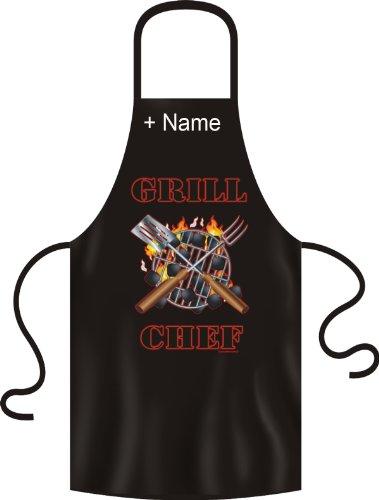 Grill chef ! imprimé tablier de barbecue et de cuisine marrant-maintenant avec le nom de votre choix !