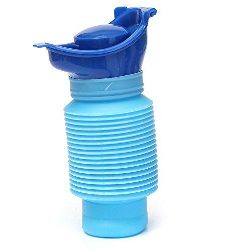 Reisetoilette 750ml Universal Mini Urinal für Männer und kinder Notfall WC, Biegsame Urinflasche Blau