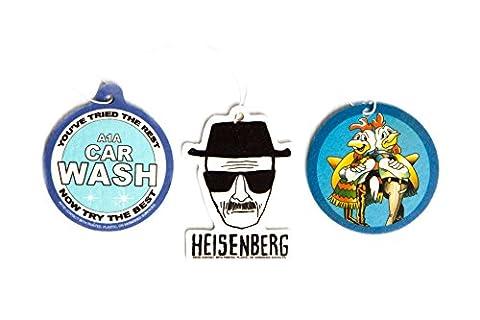 Breaking Bad Air Freshener Set of 3 - Heisenberg, Pollos Hermanos, and A1A Carwash