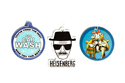 Preisvergleich Produktbild Breaking Bad Air Freshener Set of 3 - Heisenberg, Pollos Hermanos, and A1A Carwash