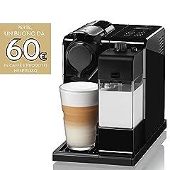 Idea Regalo - De'Longhi Nespresso Lattissima Touch Animation EN560.B Macchina da caffè, 1400 W, 1 Cups, Plastica, Nero
