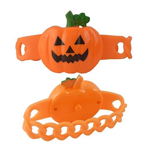 Amosfun Halloween Kürbis Armband Leuchten Armband für Karneval Party Cosplay Maskerade Kleid Party Prop Supplies