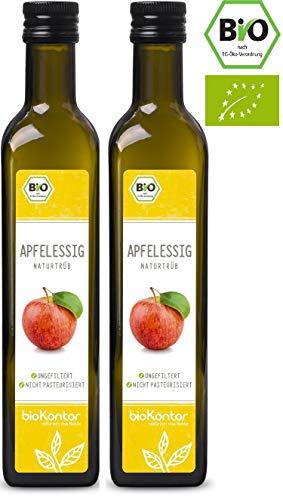 Apfelessig naturtrüb BIO – rein, unverarbeitet, ungefiltert mit Essigmutter – bioKontor – 1000ml